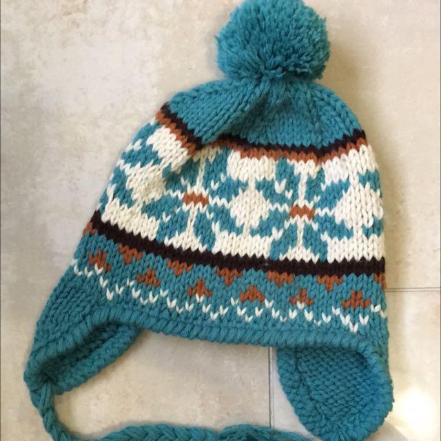 毛帽 藍綠