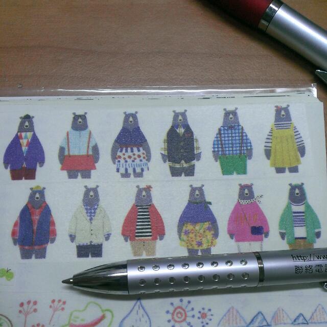 紙膠帶Aimez Style 熊