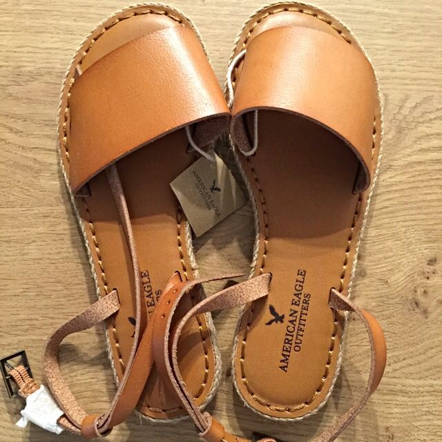 8a0a1c807fe0 American Eagle Outfitters Tan Brown Ankle Strap Sandals US 6  Brand ...