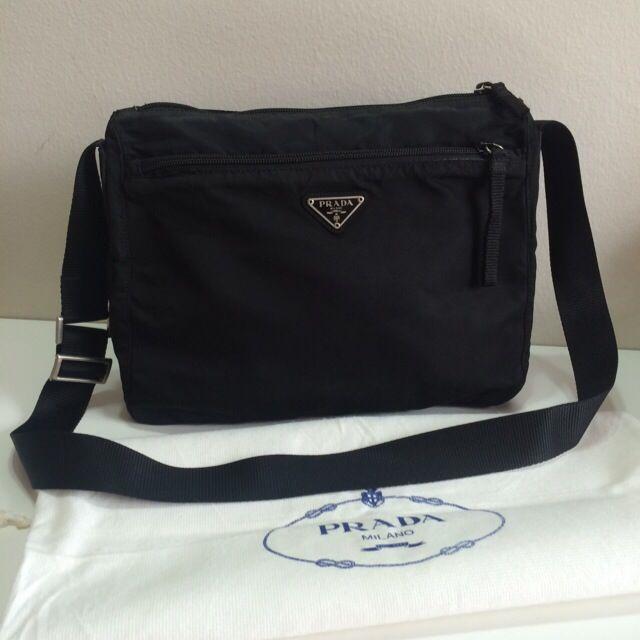 c833aa622f09 Booked ) Authentic Prada Tessuto Nylon Messenger Bag, Luxury on ...
