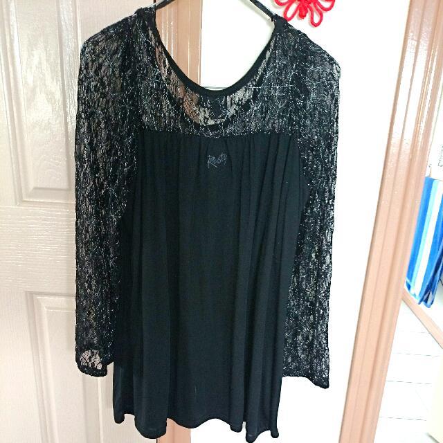 Black Lace Sweetheart Neckline Rusty Top/short Dress