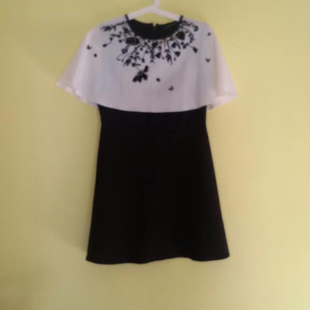 Sale 20% - Black White Dress