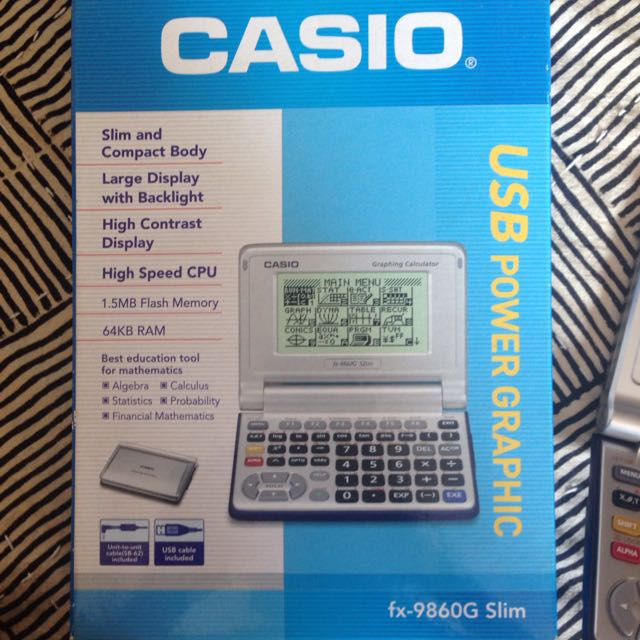 Casio fx-9860G Slim Graphing Calculator, Electronics on