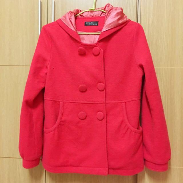日牌Cecil Mcbee紅色大衣外套