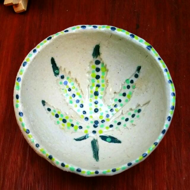 Sold.  Please Order. Fancy Saucer. Perfect For Small Centre Piece. Hemp Style dope