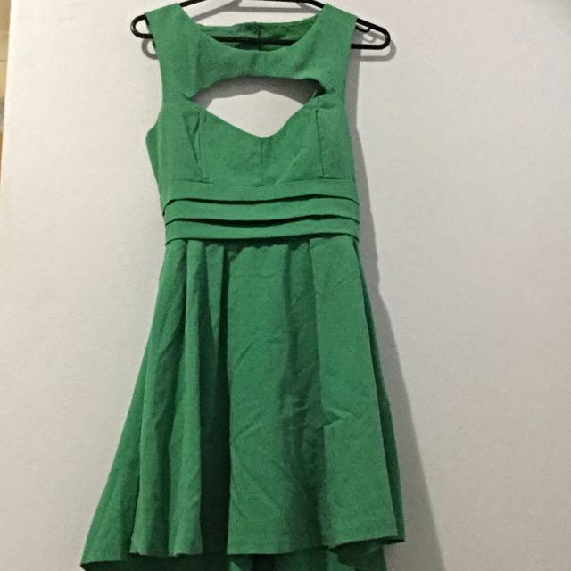 Green Paper Heart Dress