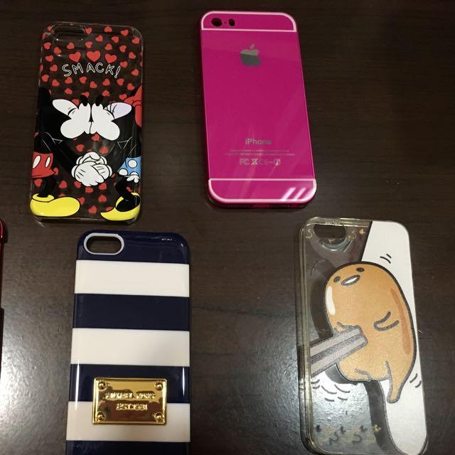 iPhone 5/5s 米奇米妮親吻 騷粉 桃紅 MK Michael Kors 藍白條 蛋黃哥