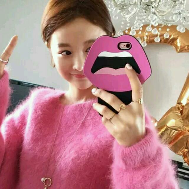 LATEST 2016 FROM KOREA Sexy Lips Smiley Face Emoji Iphone 5