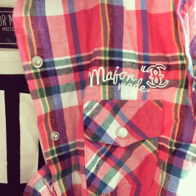 Major Made 長裙+外搭無袖刺繡襯衫