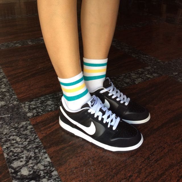 Nike Dunk 黑白 平底鞋 休閒鞋 24 /6y 正品