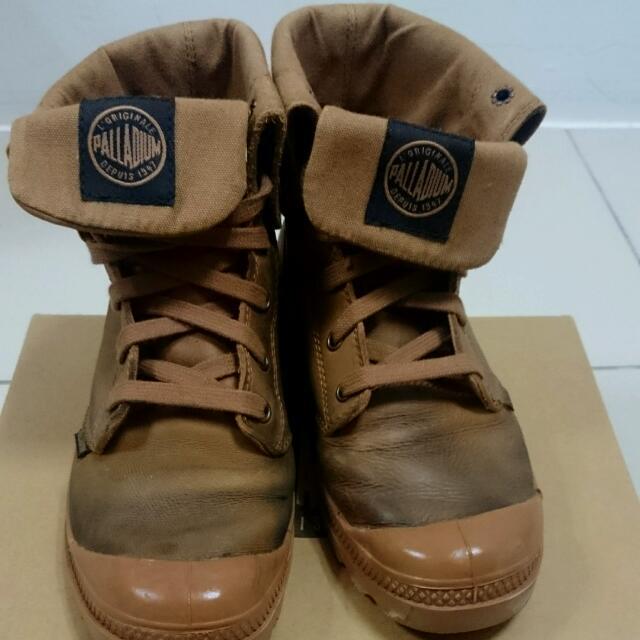(保留)(含運)PALLADIUM軍靴 中筒靴 皮靴