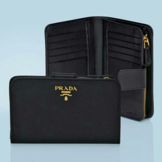 5875971a954494 ... best price new prada nero black saffiano metal wallet 1ml225 luxury  bags wallets on carousell 306d1