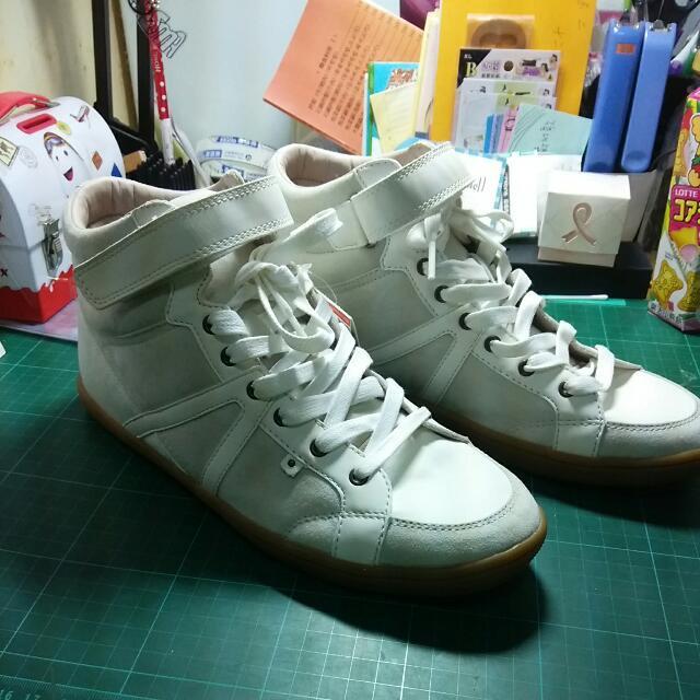<全新>PULL&BEAR 白色高筒鞋