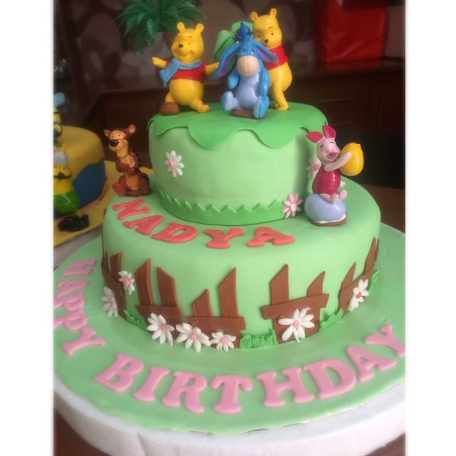 Fine Winnie The Pooh Birthday Cake Food Drinks On Carousell Funny Birthday Cards Online Alyptdamsfinfo
