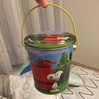 史努比 Snoopy 鐵盒 鐵罐 存錢筒