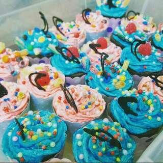 客製化繽紛夢幻杯子蛋糕 裝飾 奶油霜 Cupcake