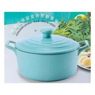 降價啦超美蒂芬妮藍陶瓷湯鍋2公升(H3)玫瑰鍋紅點韓國LE鍋