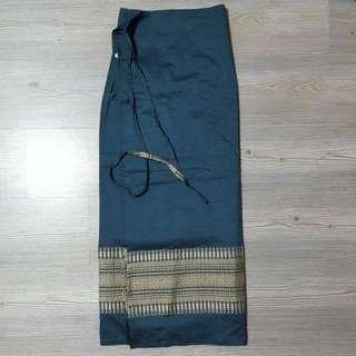 Thai Silk Wrap Skirt (Turquoise)