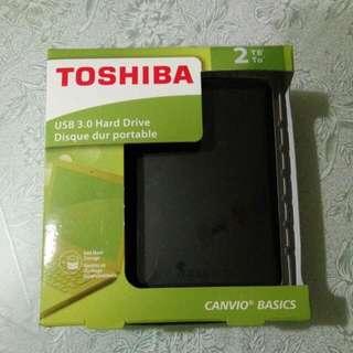 2TB Toshiba Usb 3.0 Portable Hard Drive Hdd Harddisk Canvio Basics