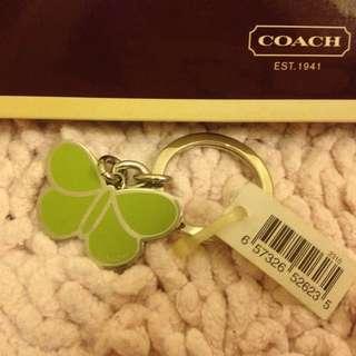 Coach 春天風情蘋果綠鑰匙圈鍊
