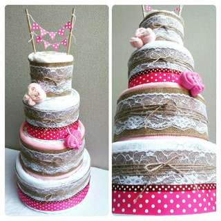 "4-Tier ""LUX"" Nappy Cake Design"