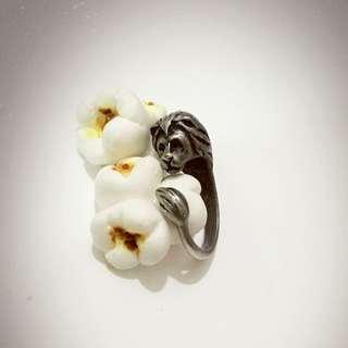 動物造型戒指 動物環抱戒指 獅子款