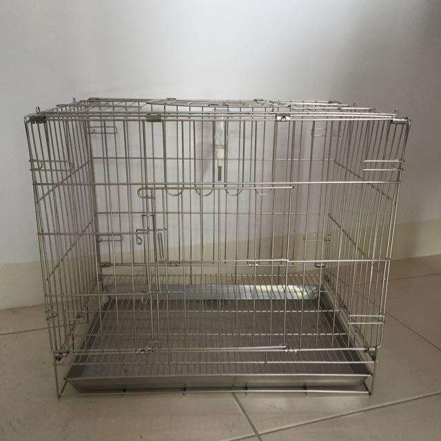 (待出貨)近全新白鐵材質寵物籠