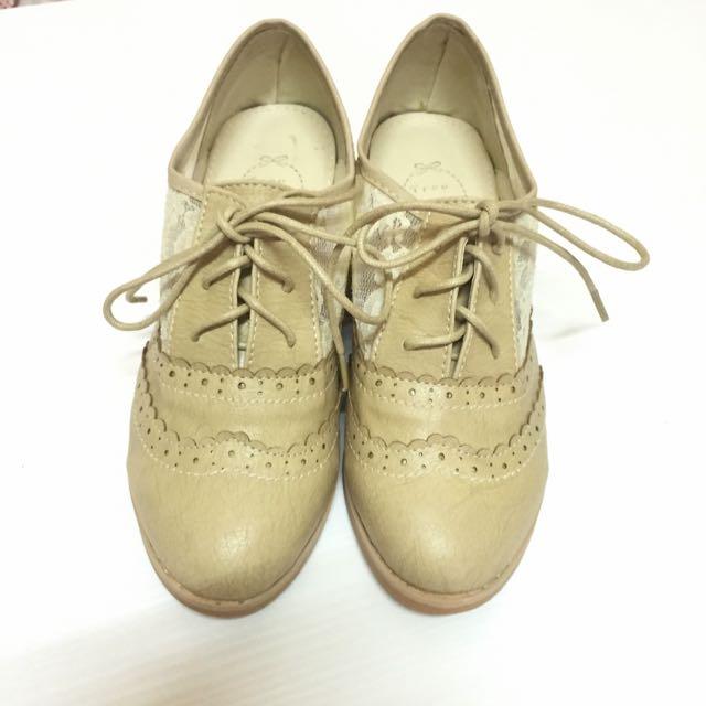 ✨全新🎀 蕾絲甜美 低跟牛津鞋
