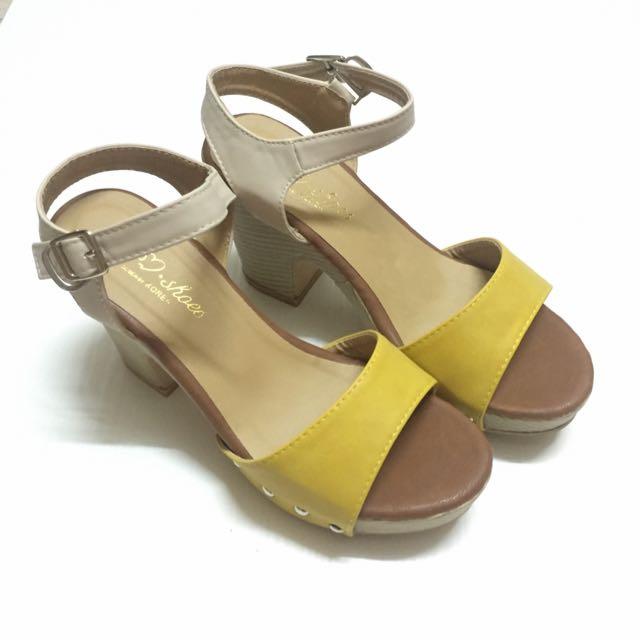 ✨韓系甜美 粗跟涼鞋 🎀