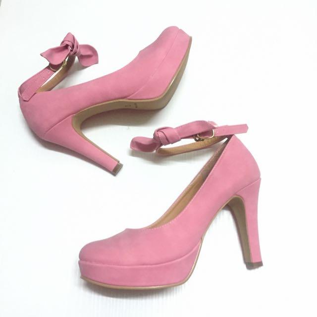 ✨全新🎀 蝴蝶結甜美可愛 高跟鞋