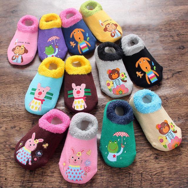 毛圈 棉質地板襪 童襪 學步襪