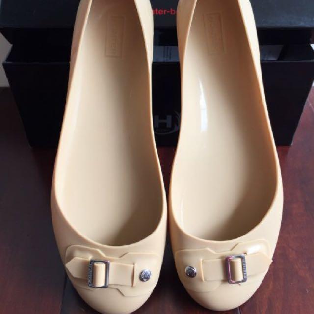 全新 英國 HUNTER 奶茶色 娃娃鞋 平底鞋
