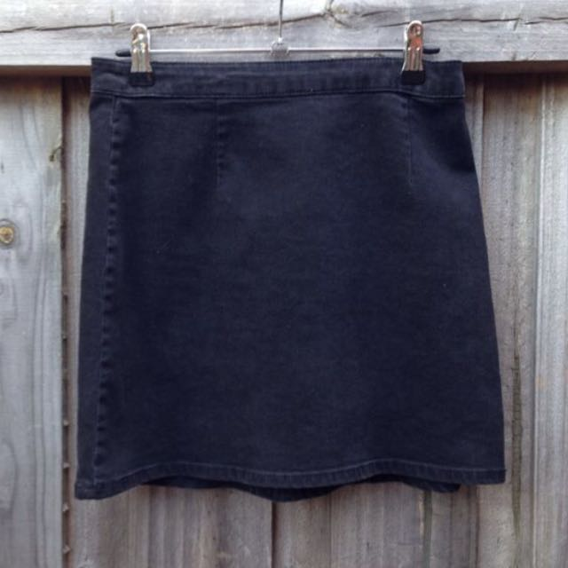 Asos A Line Denim Skirt