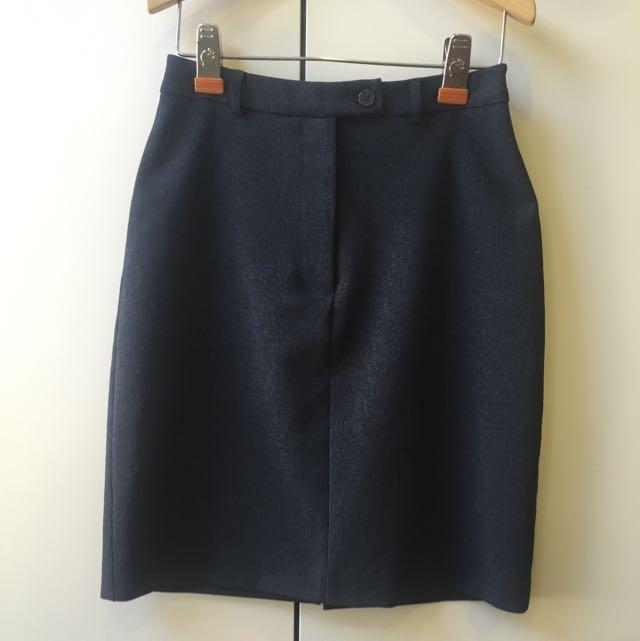 AU8 Charcoal Grey Pencil Skirt