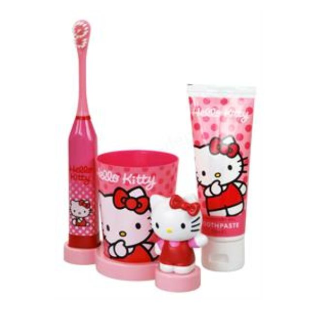 3d1c275ae Bathroom set with Hello Kitty toothbrush, toothpaste, cup (Price ...