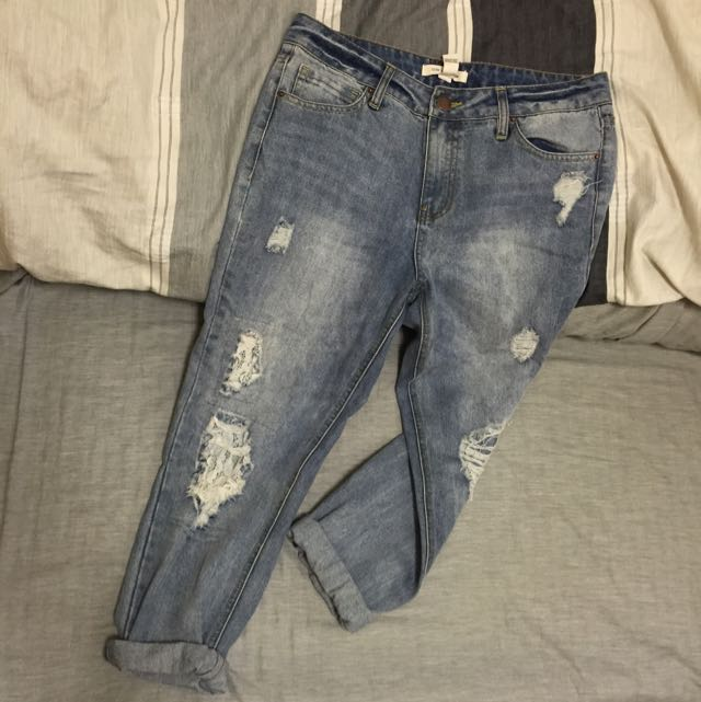 👖Forever21👖男友牛仔褲 boyfriend jeans