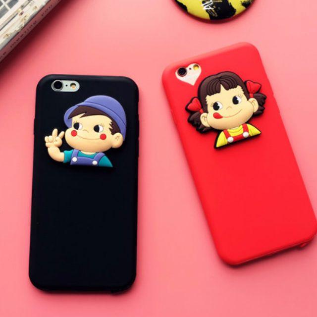 韓國立體不二家牛奶妹妹iphone6s/6plus 情侶手機殼