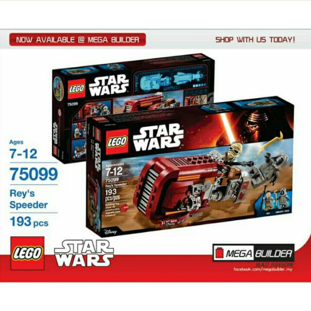 Lego Star Wars 75099 Reys Speeder Toys Games Blocks Building
