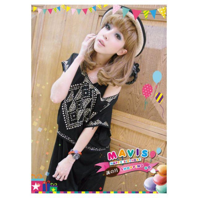(含運)MAVIS 日本連線 超人氣釘珠背心長洋裝SET MAFIA