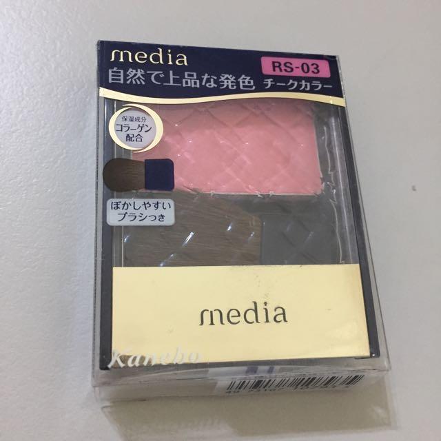 Media 媚點 亮采 純色 修容餅 RS-03 玫瑰色系 腮紅