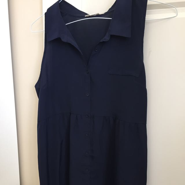 Navy Collared Dress