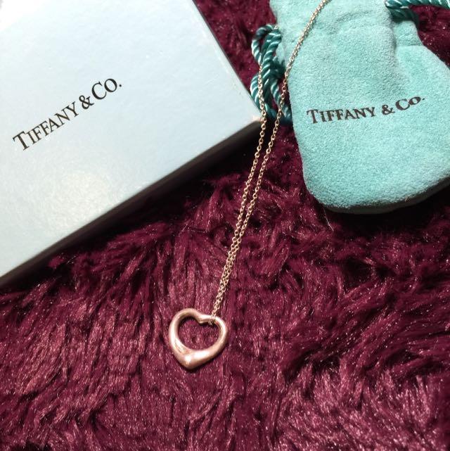 (售出待匯)Tiffany&co Open Heart 小款