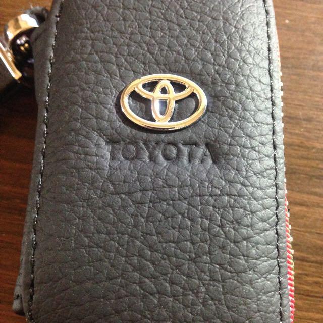 Toyota 格菱紋搖控器收納包