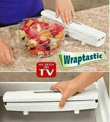 廚房必備神器!!TV電視購物主婦最愛-按壓式保鮮膜自動切割器(可切割錫箔紙)