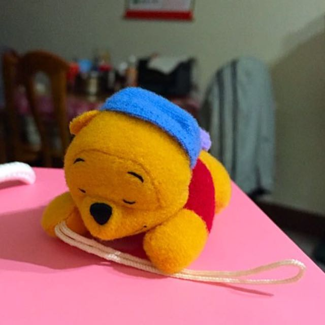 YUJIN 扭蛋/轉蛋 已絕版 迪士尼維尼 超可愛❤️ 維尼睡眠系列💤娃娃吊飾