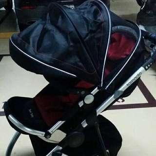 ‧ 歐美高景雙向大三輪嬰兒推車頂級運動型SUV (幻影黑)