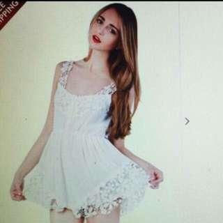 CHOIES 白色洋裝 褲裙 全新M號