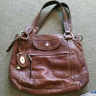 Fossil Brown Tote Bag