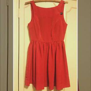 Americal Apparel Sleeveless Red Dress