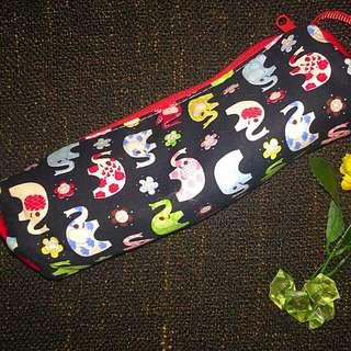 Flower Elephant Pencil Case